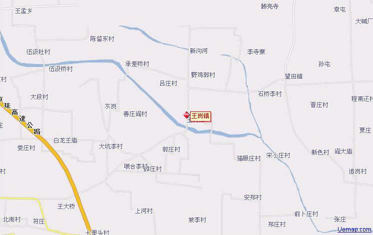 临颍县乡镇地图王岗